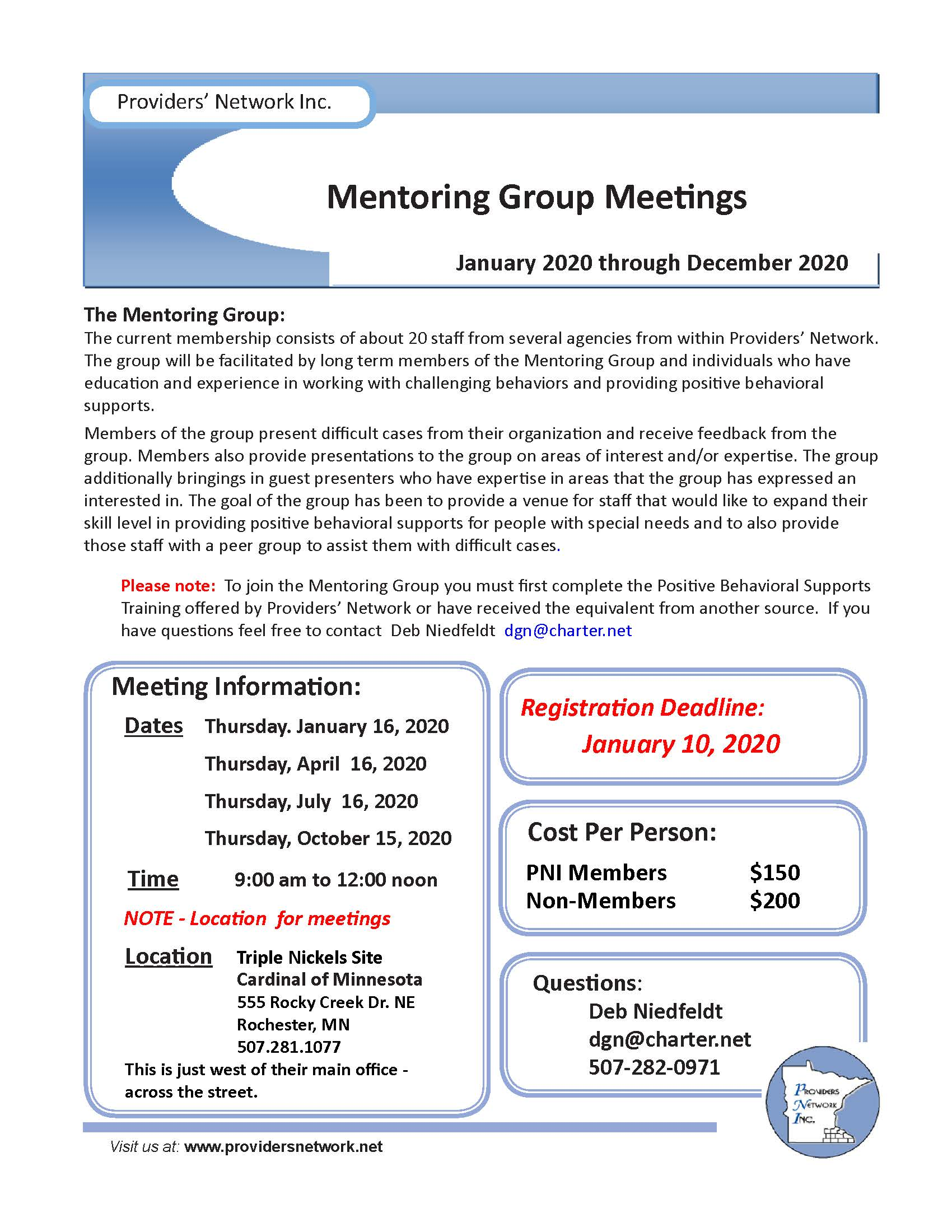 Mentoring Group @ Cardinal, Rochester